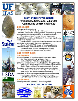 2008 Clam Workshop AGENDA