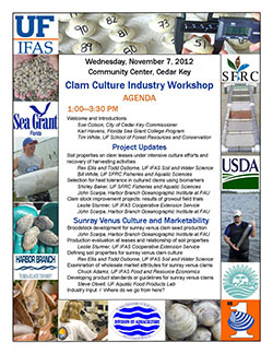 2012 Clam Workshop AGENDA