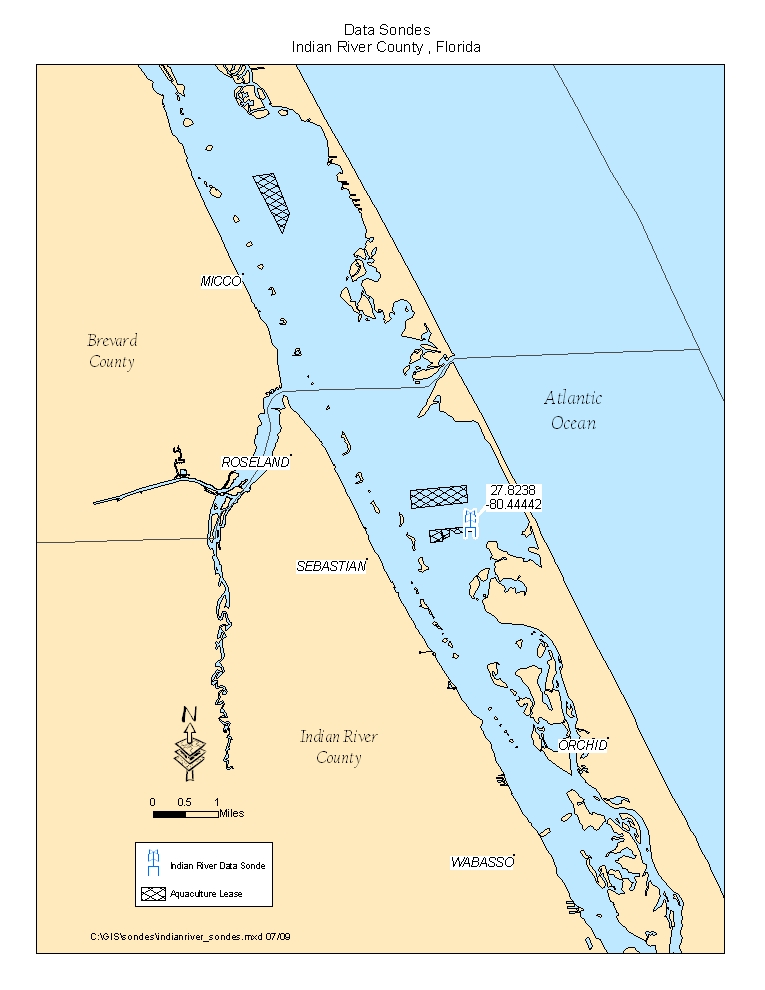 Map of Monitoring Stations in Indian River (Indian River County)