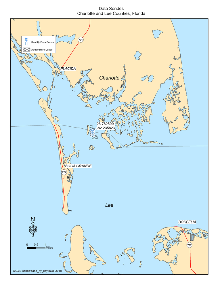 Map of Sandfly Key Monitoring Station (Charlotte County)