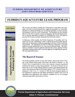 Florida's Aquaculture Lease Program_COVER
