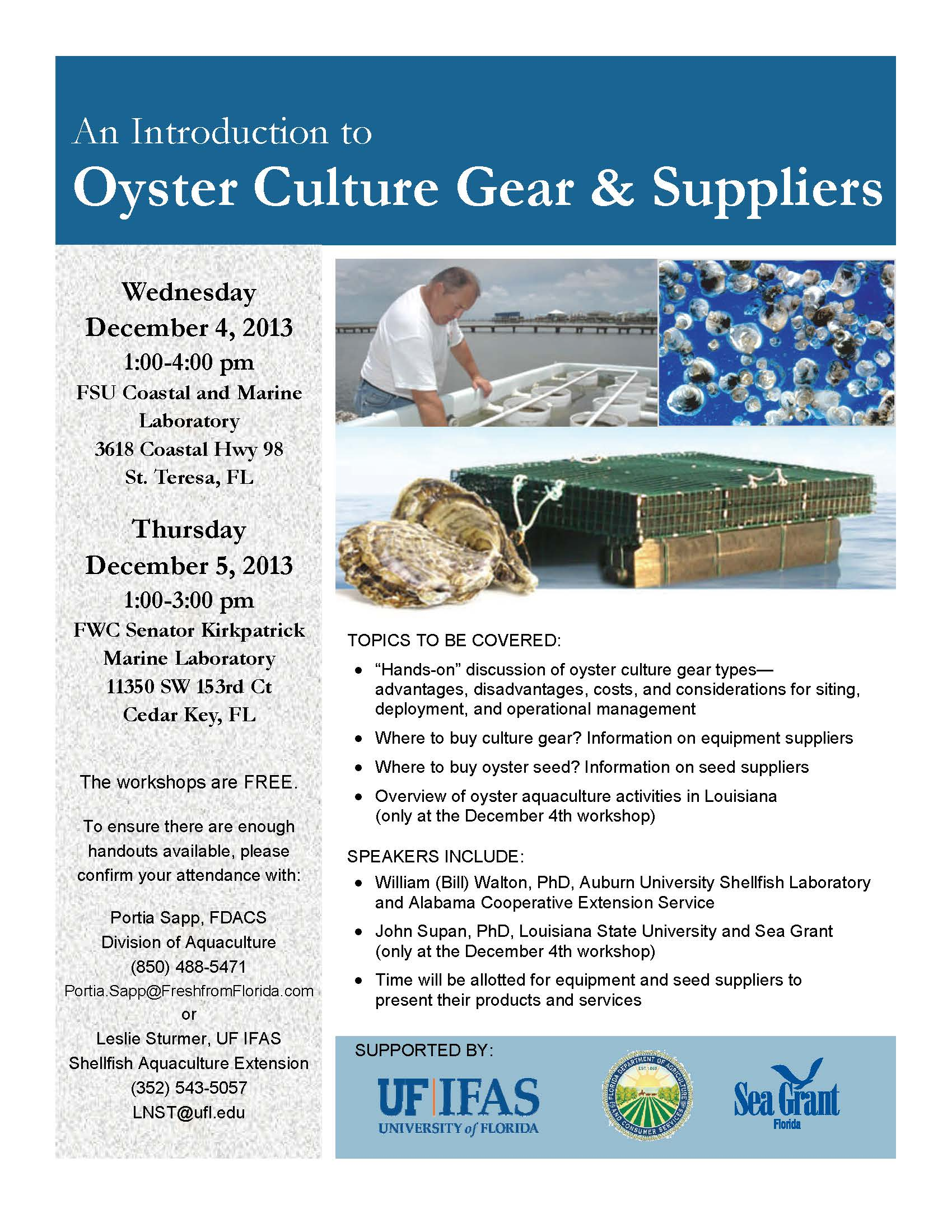Oyster Culture Gear and Suppliers_AGENDA-sm