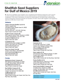 2019 Gulf of Mexico Seed Suppliers