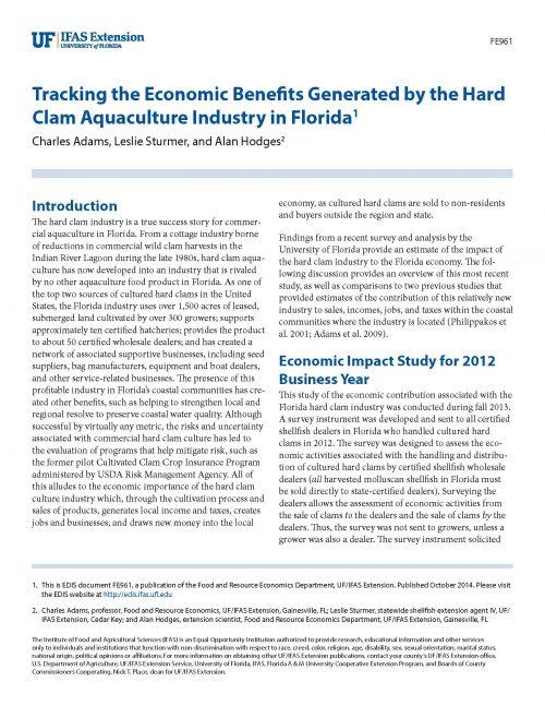 2012 Clam Economic Impact_Page_1